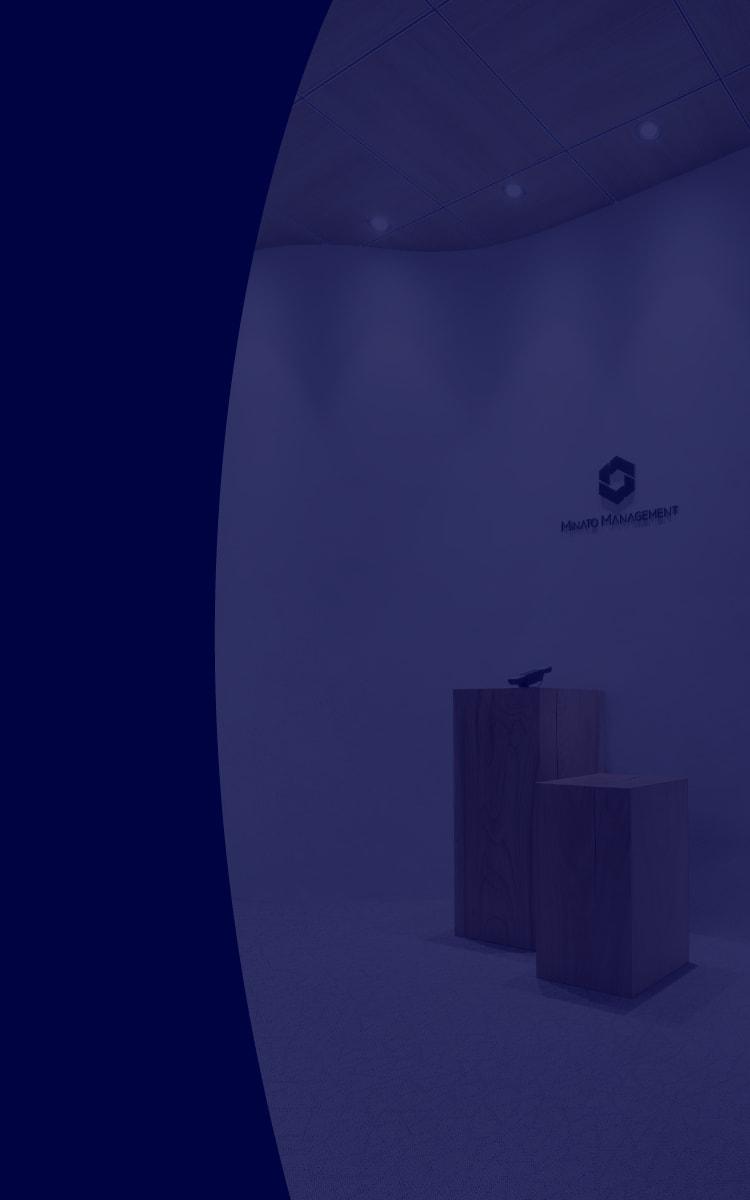 エントランスの雰囲気を背景に用いた写真