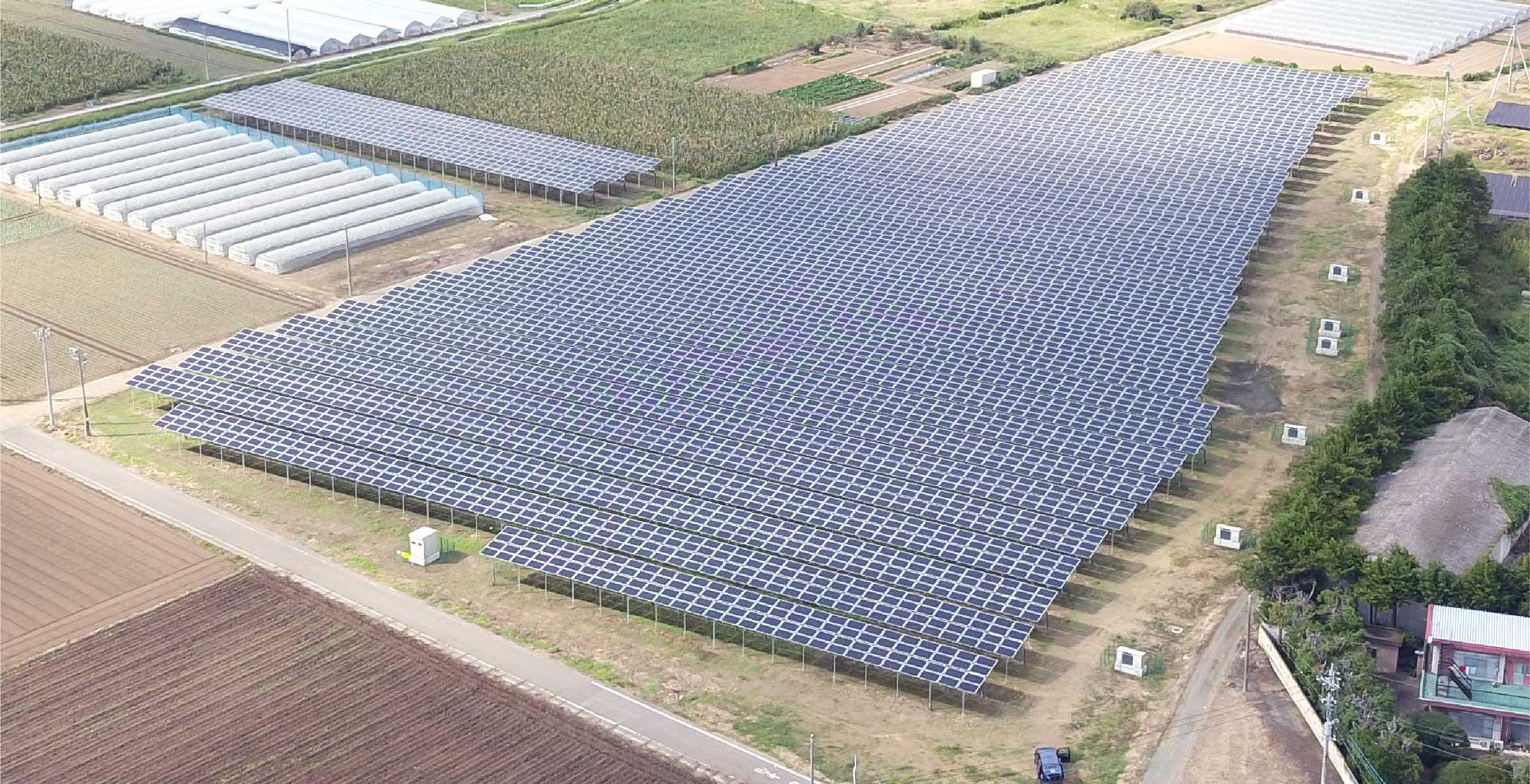 完成した営農型太陽光発電