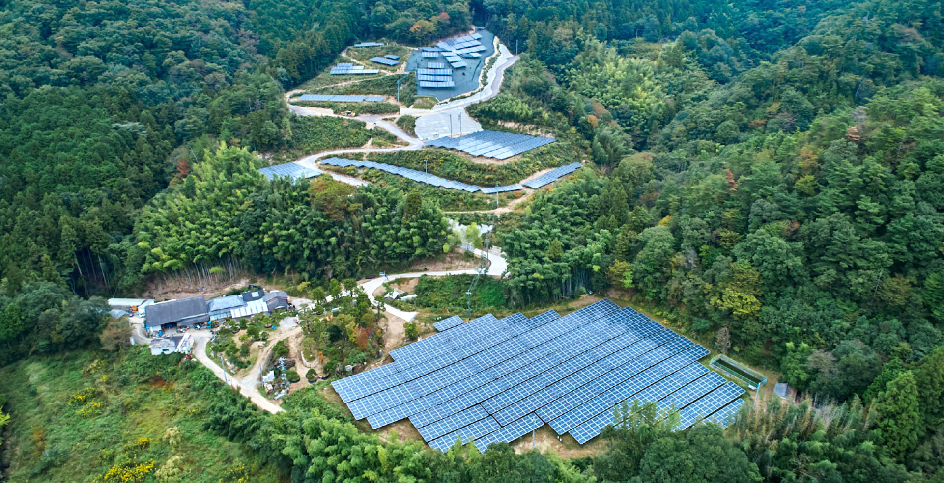エネパーク高松発電所を上から見た写真