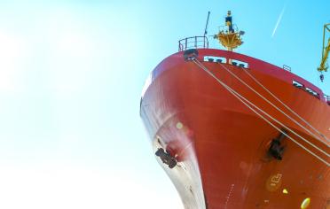 船舶の写真を用いた交通インフラのイメージ